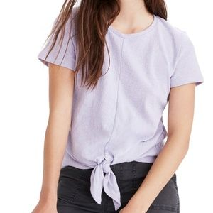 MADEWELL Modern Tie Front Tee Lilac Size M